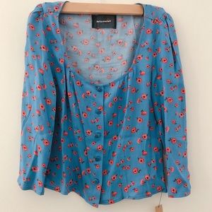 Reformation Floral Blouse